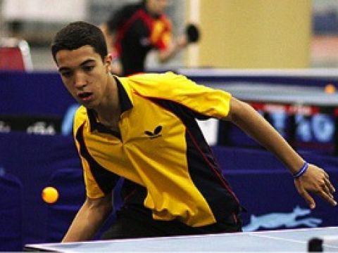 Daniel González Medalla de Bronce en el Evento Individual Sub 20 del Angby Internacional de Tenis de Mesa en Suecia.