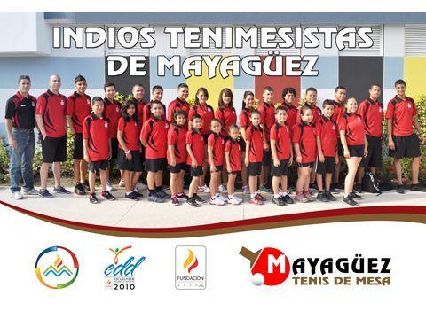 Nuevo Club de Tenis de Mesa Indios de Mayagüez que se inicio en este evento respaldado por la Fundación Mayagüez 2010.
